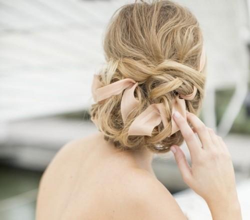 14 Romantic Wedding Updos You Ll Fall In: 15 Romantic And Elegant Bridal Ribbon Updos