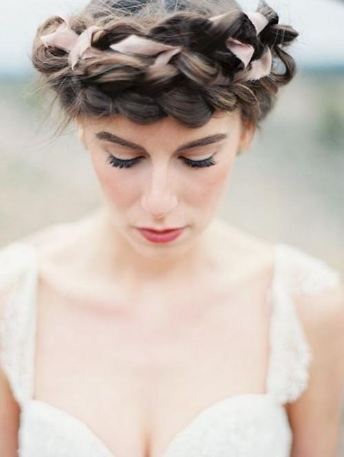 Romantic And Elegant Bridal Ribbon Updos