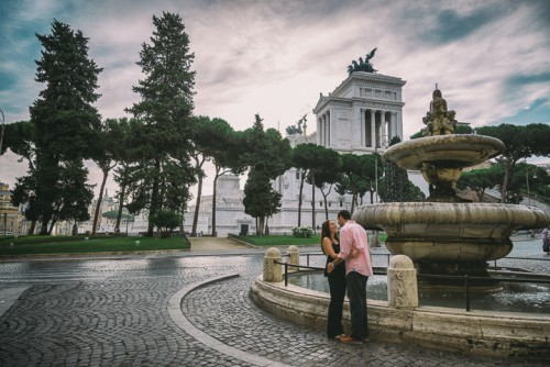 Emotional And Romantic Engagement Shoot In Rome