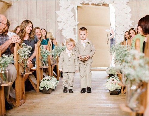 Romantic And Intimate Winter Barn Wedding