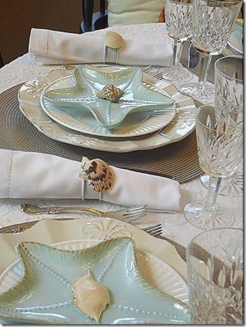 & Picture Of Romantic Beach Wedding Table Settings