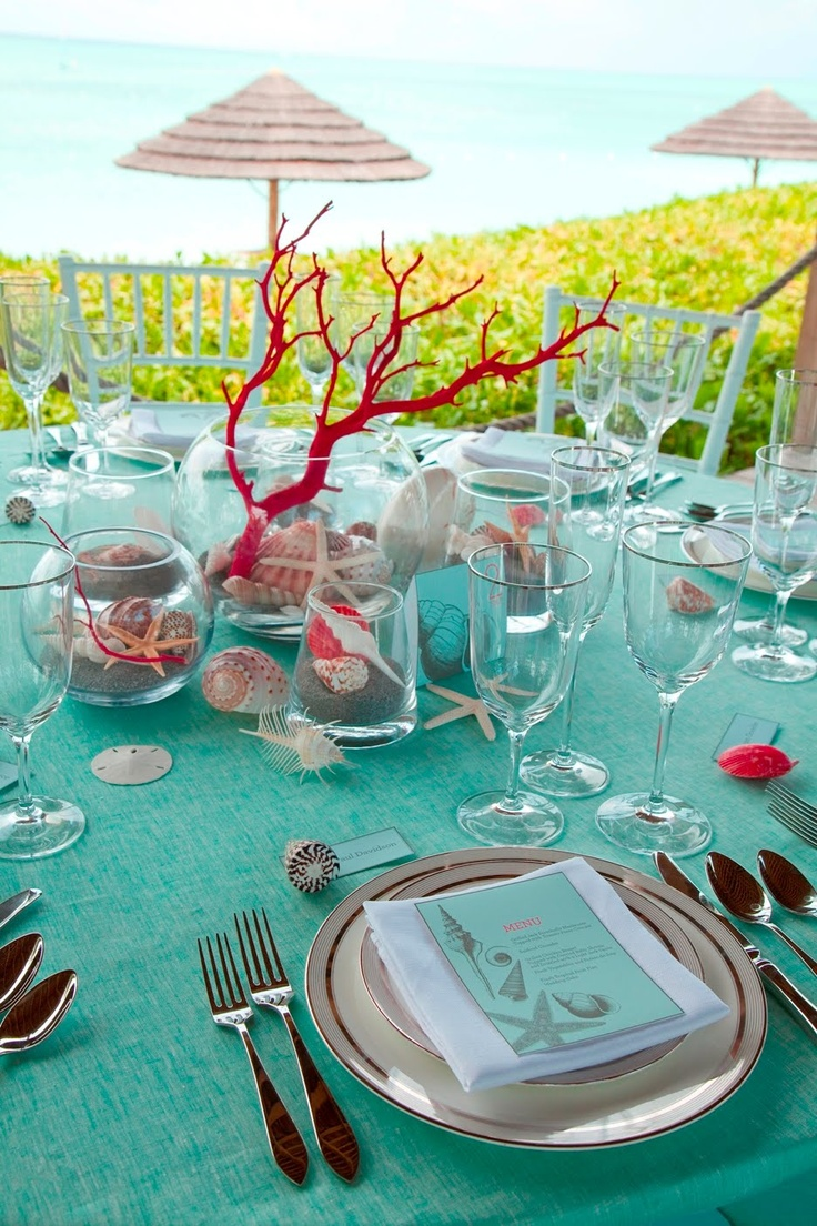 ===Como decorar una mesa con alegria...= Romantic-beach-wedding-table-settings-23