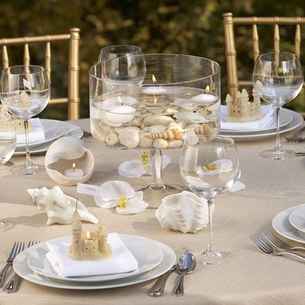 35 Romantic Beach Wedding Table Settings - Weddingomania