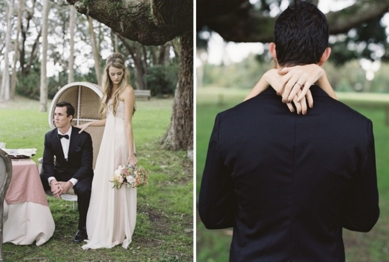 Picture Of romantic blush pink outdoor wedding inspiration  10