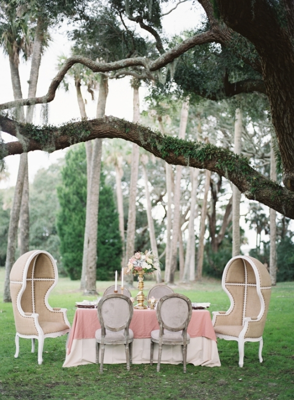 Picture Of romantic blush pink outdoor wedding inspiration  2