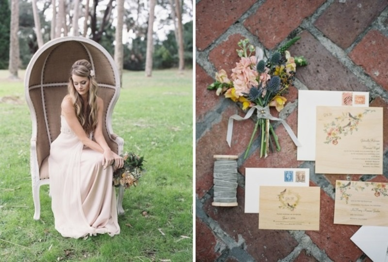 Picture Of romantic blush pink outdoor wedding inspiration  3