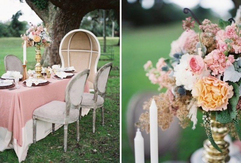 Picture Of romantic blush pink outdoor wedding inspiration  6