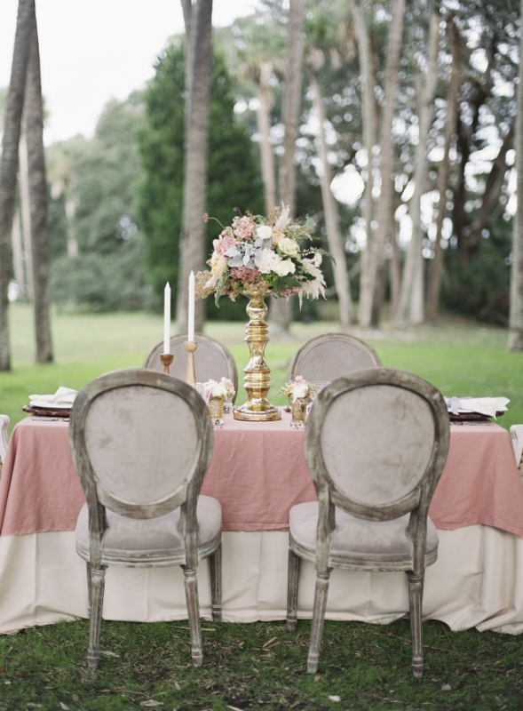 Picture Of romantic blush pink outdoor wedding inspiration  9