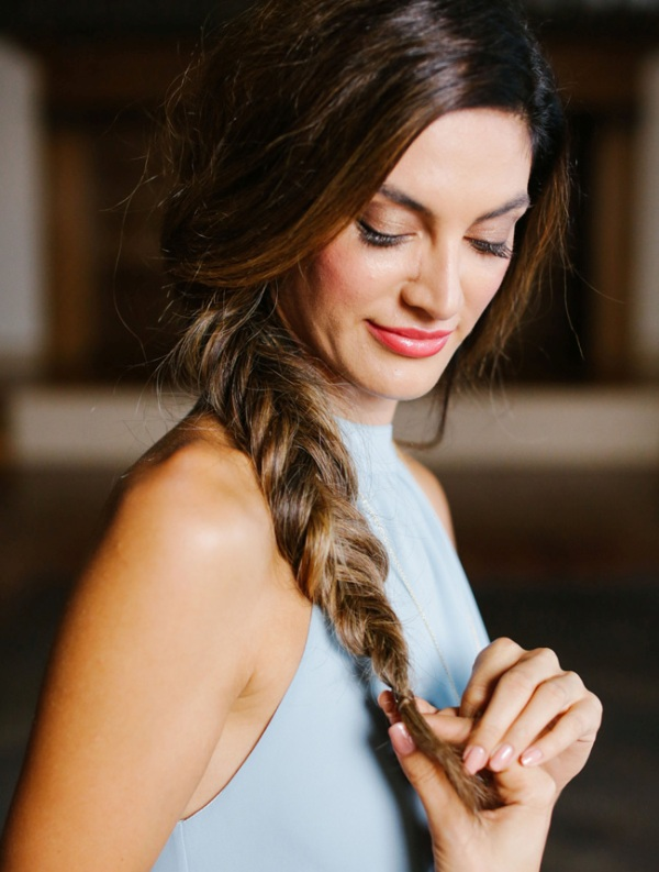 Picture Of romantic boho inspired diy fishtail braid to make  1