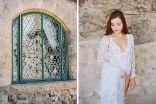 Romantic Bridal Boudoir Session At Cherokee Castle