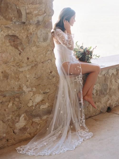 Romantic Bridal Boudoir Session At Cherokee Castle