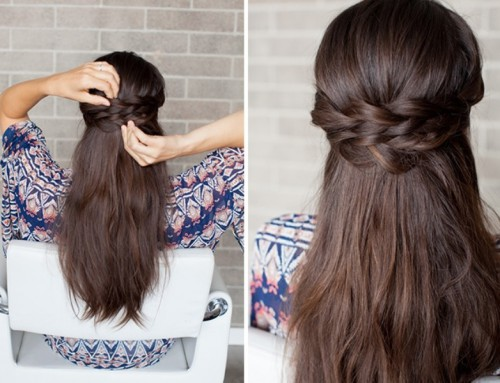 Romantic DIY Braided Half-Up Bridal Hairstyle