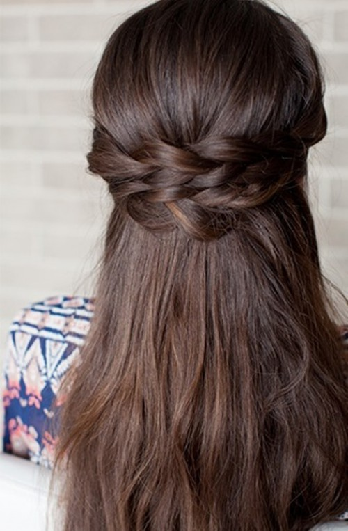 Romantic Diy Braided Half Up Bridal Hairstyle Weddingomania