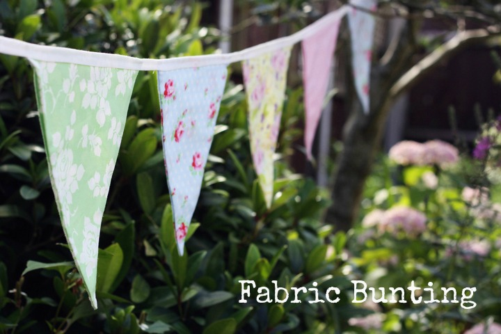 Romantic Diy Fabric Bunting For Wedding Decor