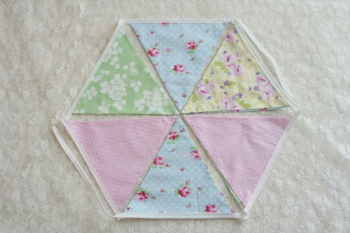 Romantic Diy Fabric Bunting For Wedding Decor