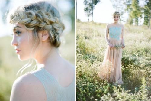 Romantic Diy Loose Halo Braid For A Dreamy Bridal Look