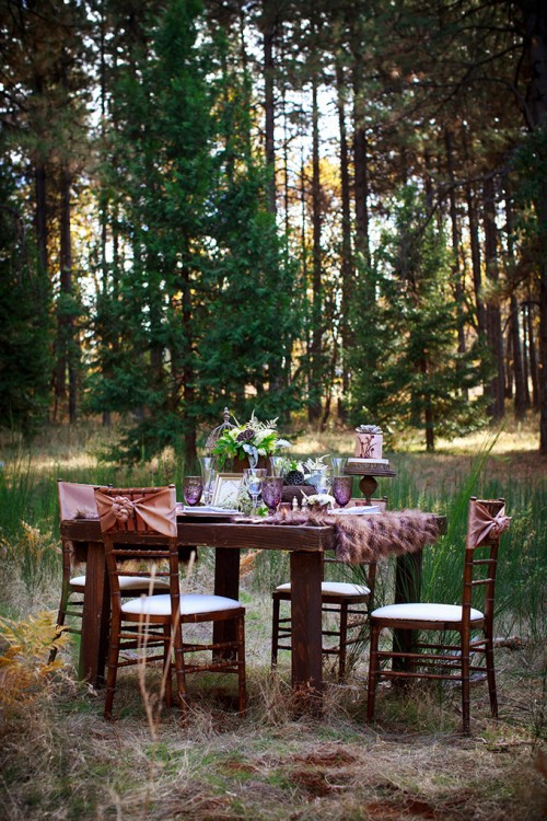 Romantic Fall Forest Wedding Inspiration