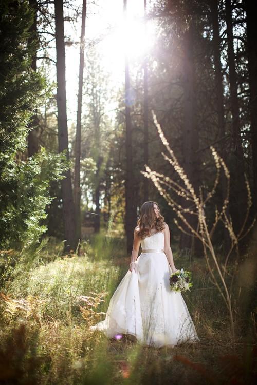 Romantic Fall Forest Wedding Inspiration