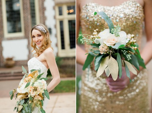 Romantic Gold Glitter Wedding Inspiration