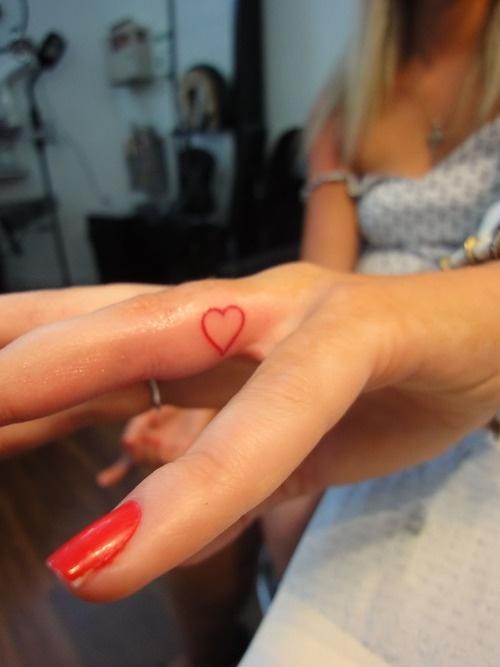 Romantic Heart Wedding Tattoos