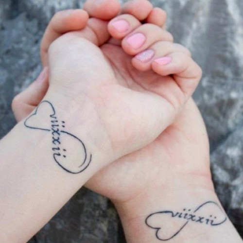 Romantic Heart Wedding Tattoos