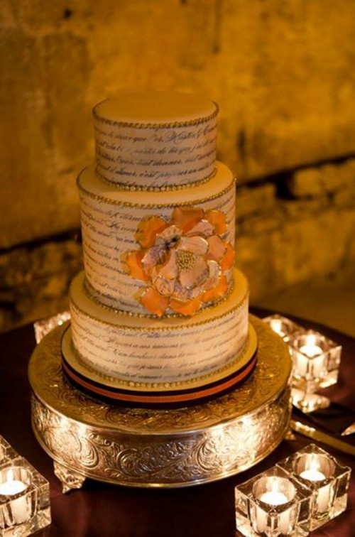 12 Romantic Love Letter Wedding Cakes