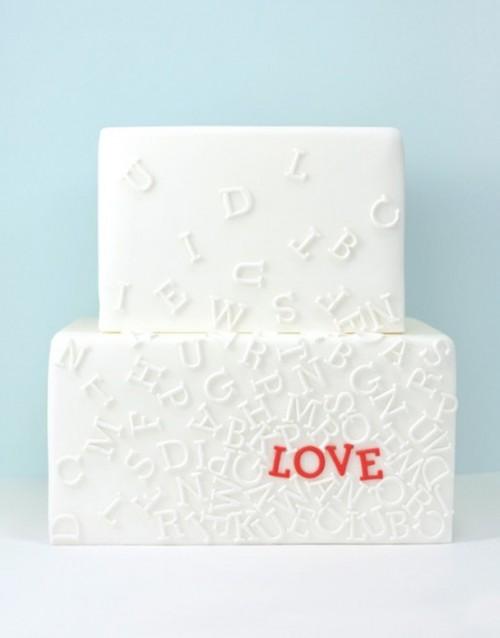 Romantic Love Letter Wedding Cakes