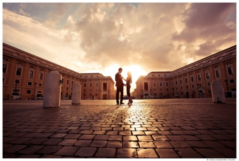 Picture Of Romantic Modern Destination Wedding In Rome 2