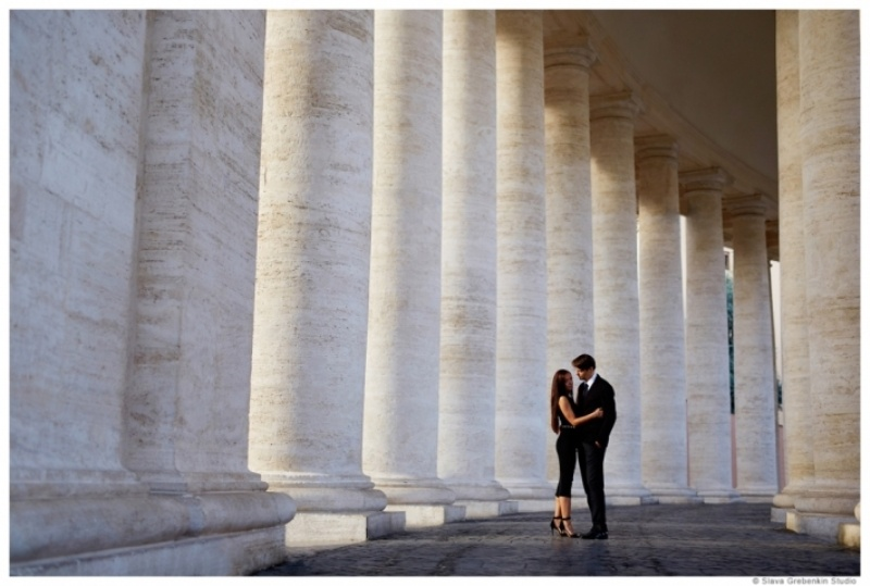 Picture Of Romantic Modern Destination Wedding In Rome 3