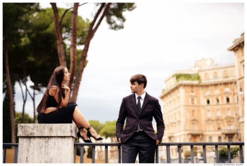 Picture Of Romantic Modern Destination Wedding In Rome 4