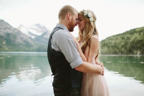 Romantic Mountainside Elopement With Boho Touches