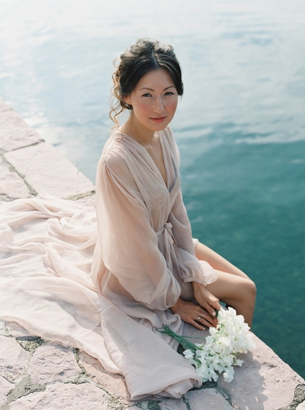 Picture Of romantic mountainside wedding inspiration in dreamy pastels  1