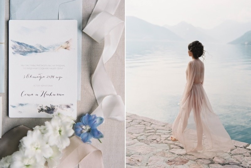 Picture Of romantic mountainside wedding inspiration in dreamy pastels  3