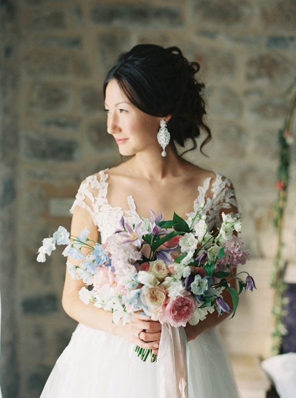 Picture Of romantic mountainside wedding inspiration in dreamy pastels  7