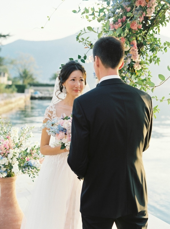 Picture Of romantic mountainside wedding inspiration in dreamy pastels  8