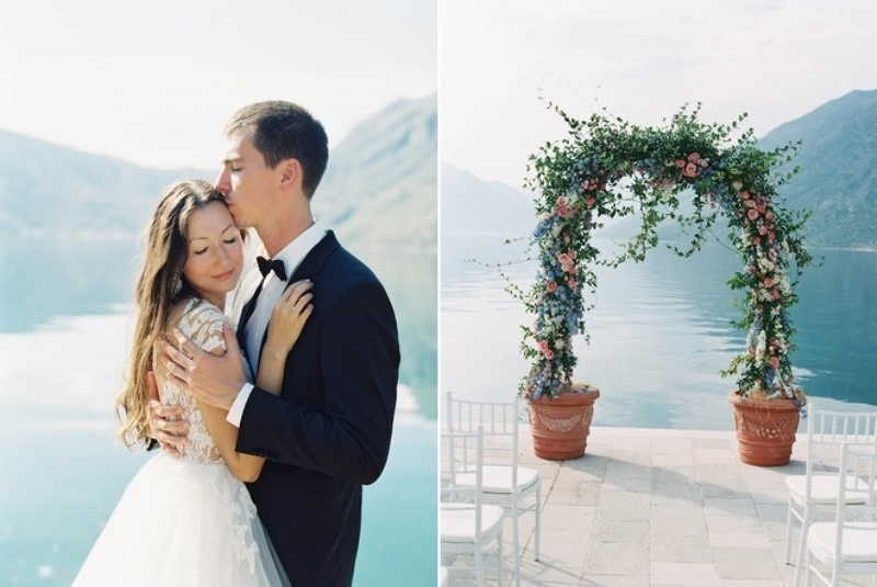Picture Of romantic mountainside wedding inspiration in dreamy pastels  9