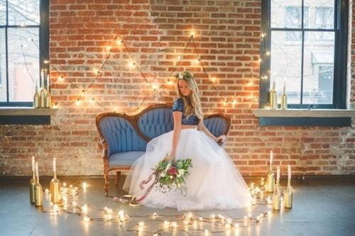 Fall Wedding Inspiration Beige: Romantic Navy And Gold Fall Wedding Inspiration