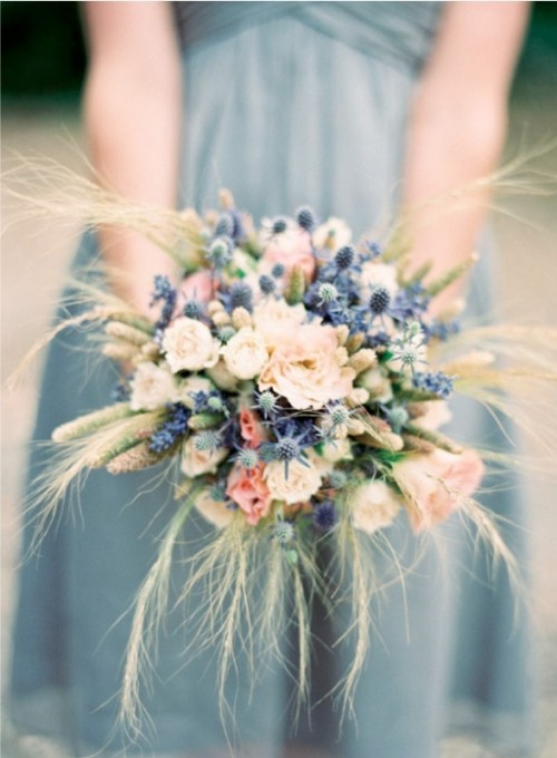 Romantic Pale Blues Wedding Color Palette Inspiration