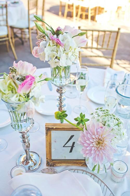 Romantic Pink Sequin Winery Wedding