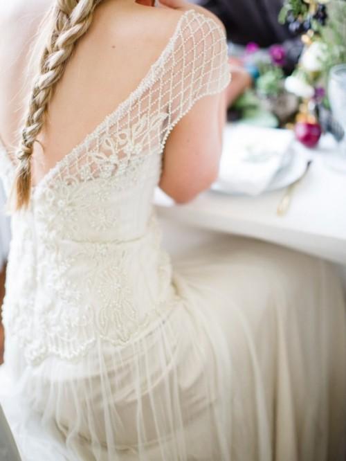 Romantic Plum Botanical Wedding Inspiration