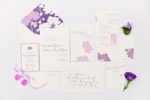 Romantic Purple And Green Garden Wedding Inspiration