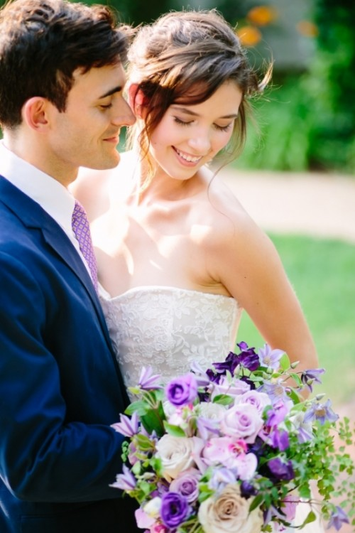Romantic Purple And Green Garden Wedding Inspiration