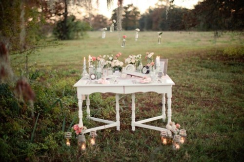 Romantic Vintage Wedding Inspiration With Clocks Decor