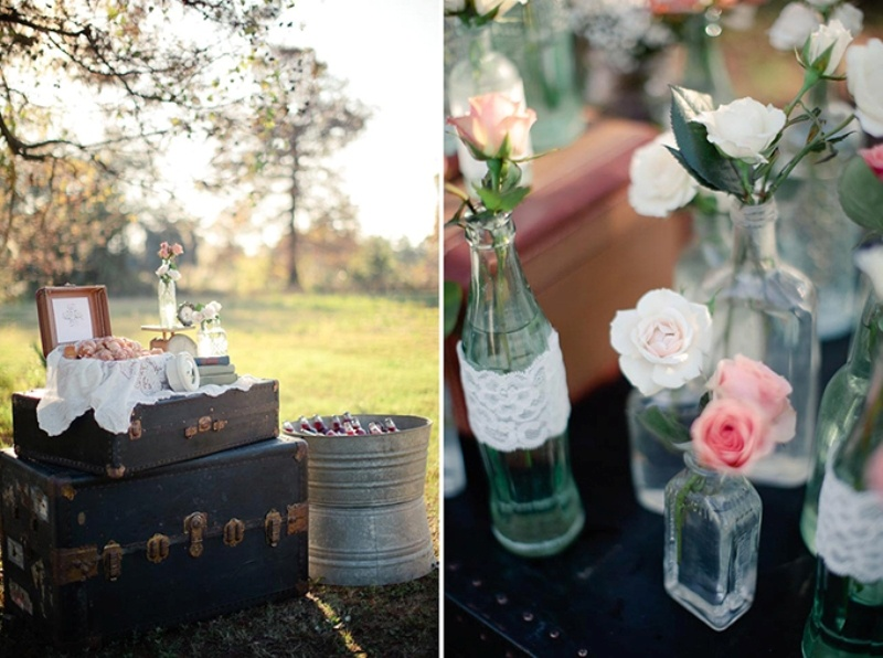 Picture Of Romantic Vintage Wedding Inspiration With
