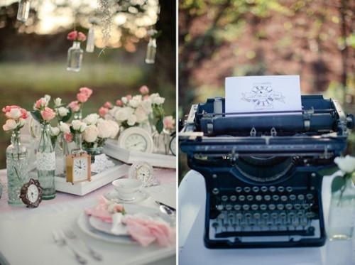 Romantic Vintage Wedding Inspiration With Clocks Decor