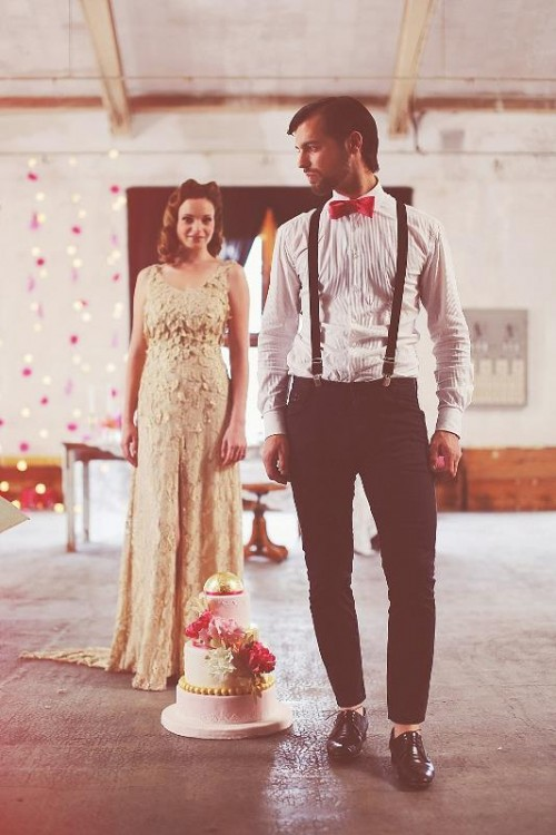 Romantic Vintage Wedding Shoot At Old Italian Wool Factory