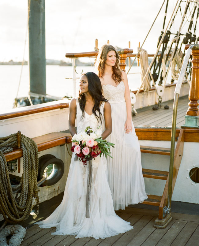 Picture Of romantic wedding shoot on a historic ship  1