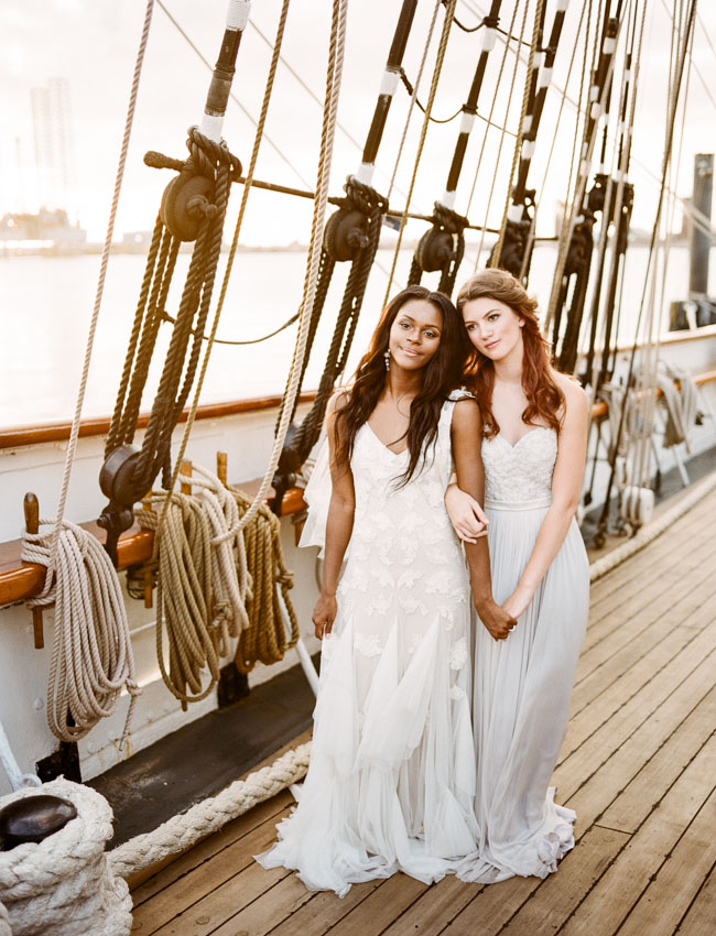 Picture Of romantic wedding shoot on a historic ship  11