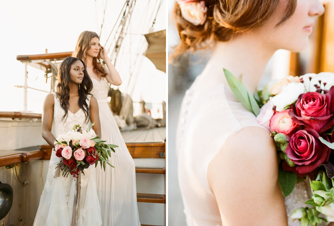 Picture Of romantic wedding shoot on a historic ship  12