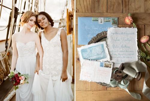 Romantic Wedding Shoot On A Historic Ship